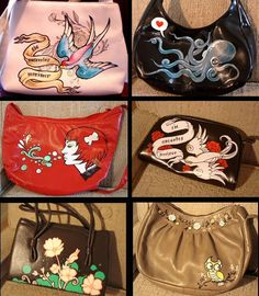 hand painted purse - Google Search efd1a7b8730
