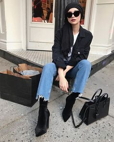 The Coolest Ankle Boot Outfits (That You Can Easily Re-Create) via @WhoWhatWear
