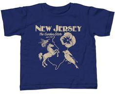 Girl's New Jersey T-Shirt - Unisex Fit Retro Garden State