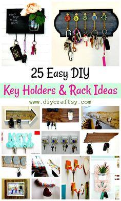 25 Easy DIY Key Holders and Rack Ideas - DIY & Crafts