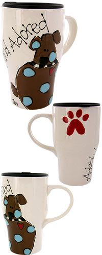 Adopted & Adored™ Dog Travel Mug at The Animal Rescue Site