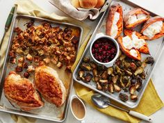 Thanksgiving on 2 Sheet Pans : If your crowd is small and you can't be bothered with dirtying every pan in the house, you'll love Food Network Kitchen's revolutionary method of preparing all the greatest hits in a fraction of the time, with an unbelievably minimal amount of cleanup.