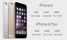 Apple announced that iPhone 6 and iPhone 6 Plus will go on sale in India on October 17th, 2014. We also have the official pricing for both the smartphones; The 16GB variant of the iPhone 6 will be ...