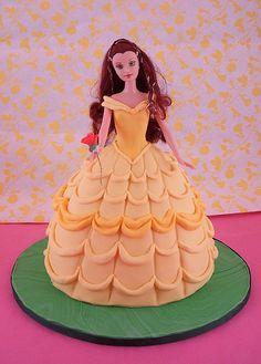 Belle doll cake by queene of tartes, via Flickr
