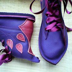 CUSTOM Leather handmade bohemian fairy tale boots, MUSTARDSEED by Fairysteps