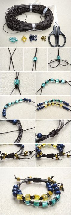 Making a Personalized Braided Leather Bracelet with Cubic Beads and Snake Knots from LC.Pandahall.com
