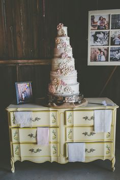 Old Dresser- rent or buy and use for cake table! Wisconsin Farm Wedding