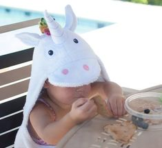 Yikes Twins Unicorn Hooded Towel | Etsy Swim Lessons, Beach Kids, Polar Fleece, Baby Essentials, Rainbow Colors, Baby Animals, Hoods, Little Girls, Twins