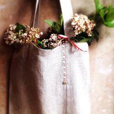 Linen Tote Bag. Natural Linen Bag. Handmade Linen от LaClariere