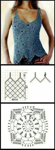 Unit stitch crochet pattern