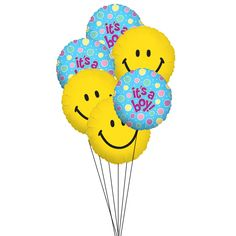 Sometime, smile on the face makes the occassion even happier. Express your emotions through this smiley balloons and let the new baby boy come into family with baby boy balloon wishes.