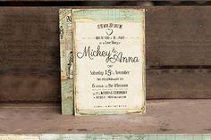 Vintage Journey Wedding Invitation  @creativework247
