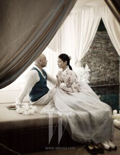 Hanbok korean,발레리나 강수진, 아름다운 연인과 함께하다. Ballerina Kang, it is with a beautiful lover - STYLE.COM