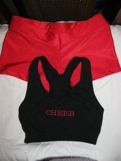 This cheer set is so #cute! #spirit #accessories has all sorts of sports bras and booty shorts that are even cuter than this! #sport #cheer #workout #fitness #cheerleading #spiritaccessories #shorts #bra #cute #practice #apparel #clothing