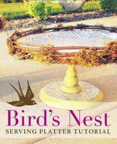 bird's nest serving platter