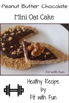 Mini Torta di Avena con Cioccolato al Burro di Arachidi - Peanut Butter Chocolate Mini Oat Cake #fitwithfun #fitchef #recipe #ricetta #healthy #healthyfood #dessert #cake #oat