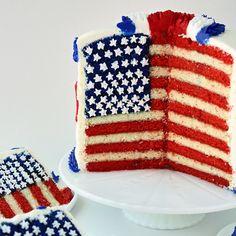 SugaryWinzy Flag Cake and Tutorial