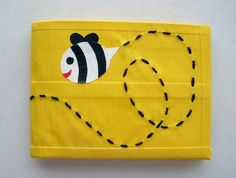 Bumble Bee Duct Tape Wallet Yellow by CheshireNat on Etsy