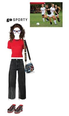 """""""the soccer match"""" by piplusc ❤ liked on Polyvore featuring RE/DONE, Proenza Schouler, Marc Jacobs and Chanel"""