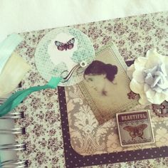 ON SALE Virginia Woolf shabby chic journal mint by fairybootique, $18.00