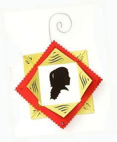 paper art silhouette ornament