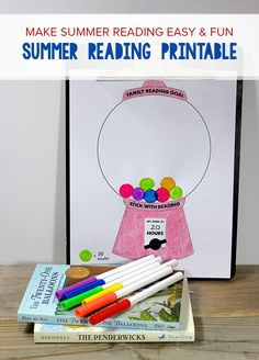 Make summer reading goals fun! Use this gumball machine printable to set goals and show progress. Printing now!