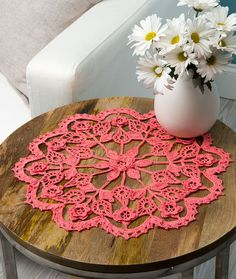 Exquisite Flower Doily Free Crochet Pattern in Aunt Lydia's Crochet Thread Size 10