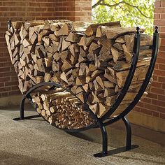 Log Racks - Standard - Frontgate traditional fireplace accessories