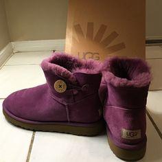purple Ugg Ankle Boots Originally $150, lightly worn, original box UGG Shoes Ankle Boots & Booties