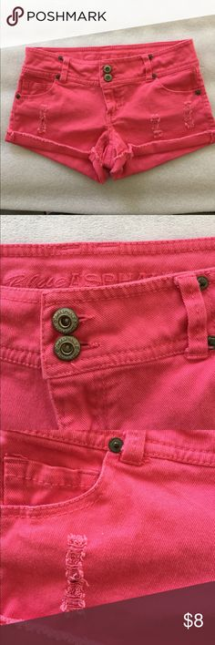 Denim short shorts Very cute hot pink shorts, worn only once or twice Blue Asphalt Shorts Jean Shorts