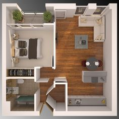 3D Floor plan vray ,3ds max ,affter effect and photoshop together