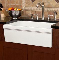 Tiefen Weißen Waschbecken - Küchenmöbel