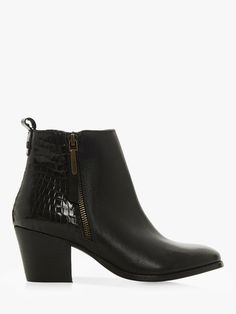 daa4860a8bf Dune Peerson Leather Block Heel Boots