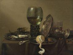 Willem Claesz. Heda. Still Life with oysters, a rummer, a lemon, and a silver bowl. 1634. Museum Boijmans Van Beuningen. Rotterdam.