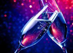 香槟酒庆贺节日素材图片