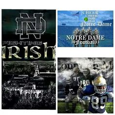 Notre Dame Irish, Go Irish, Notre Dame Football, Fighting Irish, New Theme, Cheer, Sports, Clothes, Hs Sports