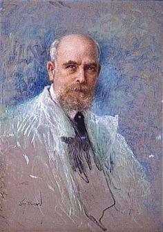 "Lucien Lévy-Dhurmer (French 1865 - 1953), ""Self Portrait"", Pastel on Paper. (Enlarge)"