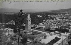"""Archnet - Bab Guissa Mosque and Madrasa, View overlooking Bab Guissa mosque and Bab Guissa quarter / """"Fez, Panorama du quartier de Bab-Guiss..."""