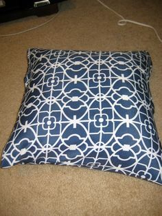 DIY Envelope Style No Sew Pillow Cover - Charleston Crafted