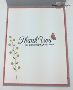 Wildflower Fields Thanks 5 - Stamps-N-Lingers Making Greeting Cards, Greeting Cards Handmade, Thanks Card, Beautiful Handmade Cards, Stamping Up Cards, Cool Cards, Flower Cards, Homemade Cards, Thank You Cards