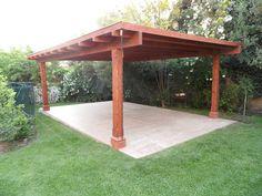 Pergola Kits Attached To House Key: 5937109232 Cedar Pergola, Pergola With Roof, Backyard Pergola, Patio Roof, Pergola Plans, Curved Pergola, Pergola Ideas, Carport Designs, Pergola Designs