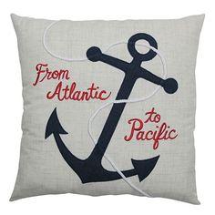 Americana Anchor Throw Pillow