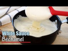 Béchamel, also known as white sauce, is one of the the classic French Mother sauces that form the basis of French cuisine. This white sauce recipe is so easy. Easy Crepe Recipe, Crepe Recipes, Homemade Almond Milk, Homemade Peanut Butter, Bachemel Sauce, Sauce Tzatziki, Butter Cream Sauce, Making White Sauce, White Sauce Recipes