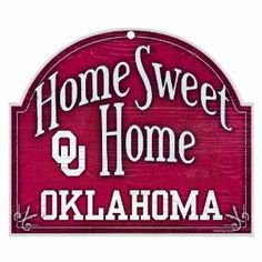 University of Oklahoma Sooners NCAA 11x9 Home Sweet Home Wood Sign NEW FREE SHIPPING