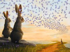 Robert Bissell - Contemporary fine art and prints Art And Illustration, Watership Down, Photo D Art, Candy Art, Rabbit Art, Beautiful Creatures, Cute Art, Fantasy, Sculpture