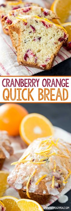 Cranberry Orange Quick Bread is perfect for the holiday season or any season. Seriously yummy stuff. - Eazy Peazy Mealz