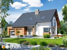 Dom jednorodzinny z poddaszem użytkowym , strop płyta żelbetowa , 124.69 m² + 35.33 m² + 9.14 m² , 5 pokoi, 1 kuchnia, 2 łazienki, spiżarka, kotłownia, pralnia, garderoby, kominek, garaż