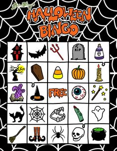 NaturePlays FREE Printable Spooky Halloween Bingo Set: Player Card 3