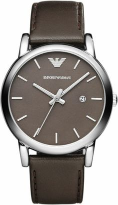 7a1d040af226 NEW IN BOX Emporio Armani AR1729 Classic MEN S Brown Leather Watch  Authentic