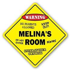 Melina's Room Sign kids bedroom decor door children's name boy girl gift